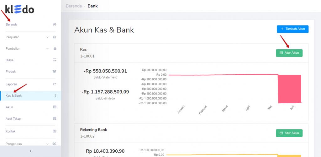 Transaksi baru kas & bank Kledo