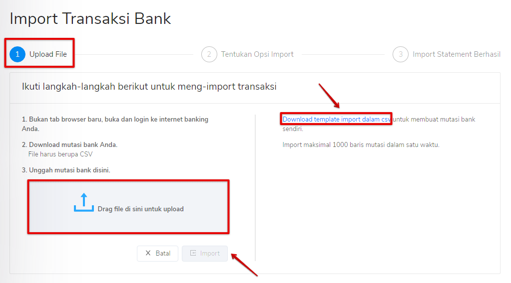 Import bank statement manual