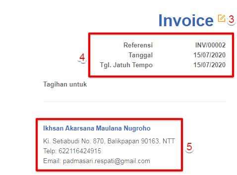 Ubah nama invoice jual Kledo