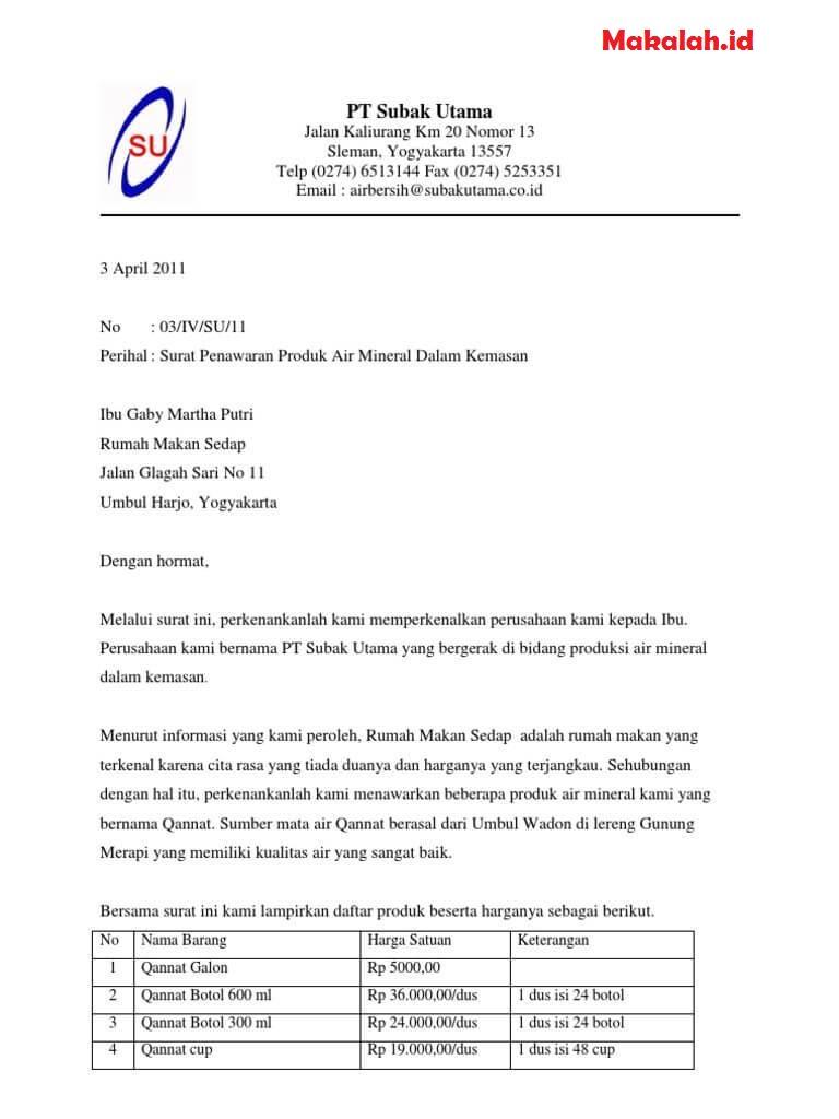 surat penawaran