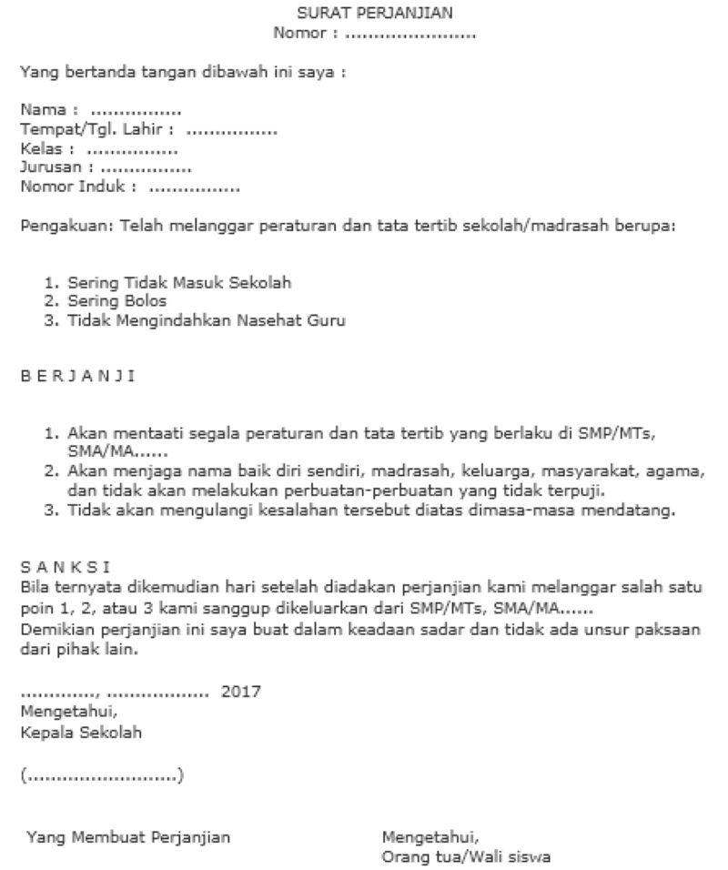 kontrak surat