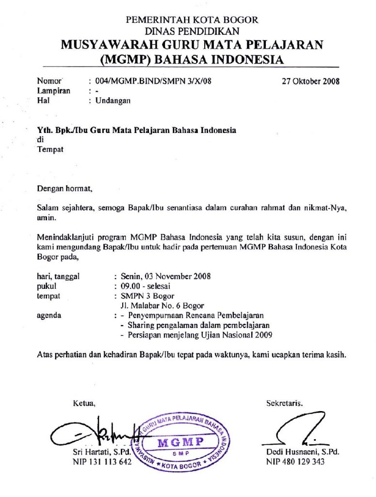 undangan resmi