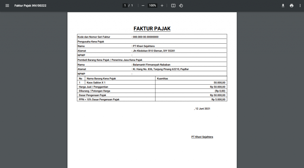 faktur-pajak-berhasil-dicetak